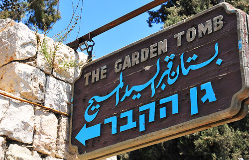 The Garden Tomb Sign